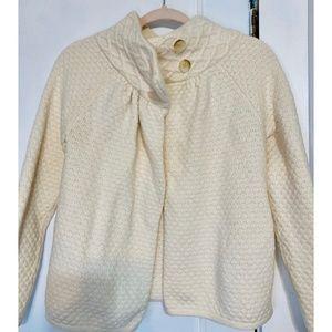 LOFT Cable Knit Cape Sweater